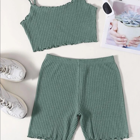 Green two piece set!